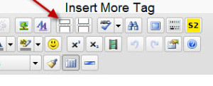 Insert More Tag in WordPress