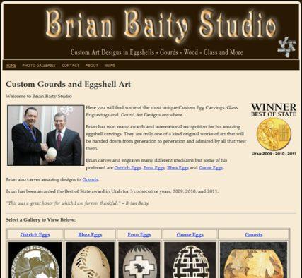 Brian Baity.com - Custom Egg and Gourd Carving