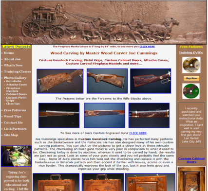 Joe Cummings Studio.com - Custom Gun Carving and Wood Carving