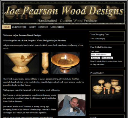 Joe Pearson Wood Designs - Custom Wood Turning