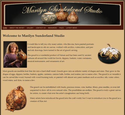 Marilyn Sunderland Studio - Custom Gourd Art
