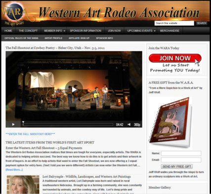 Western Art Rodeo Association - The World's First Art Sport