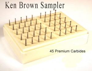 Carbide Bur Sampler - Ken Brown Burs